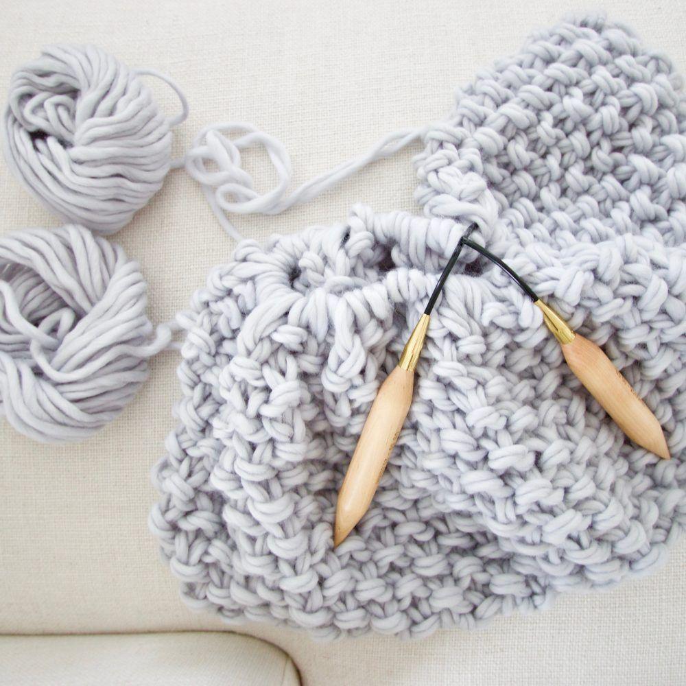 Birch circular knitting needles