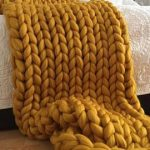 Black Chunky knit blanket - Christmas - Wool throw, Chunky blanket, Giant knit blanket, Knitted blanket, giant throw, arm knit blanket