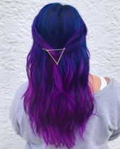 Blue and Purple Hair Color Ideas
