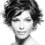 Bob cut with casual messy look...