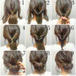 Boho Chic Hochzeitsfrisur für langes Haar mit Blumen. Hochzeitsfrisuren halb unten, Haare und Make-up von