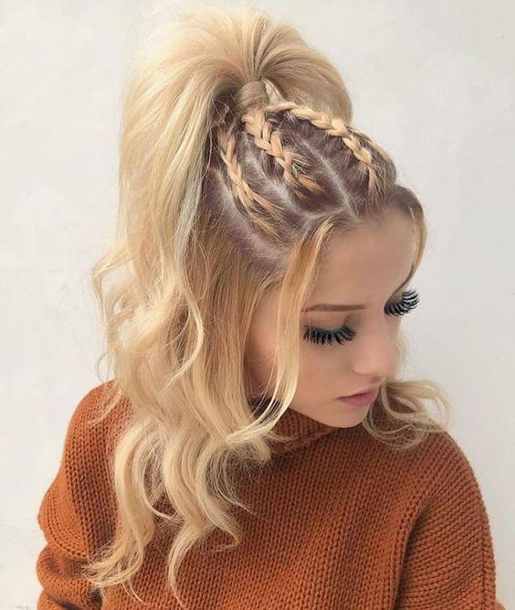Braid hairstyle for long hair #hairstylesforshorthair #hairstyles #haircut #hai