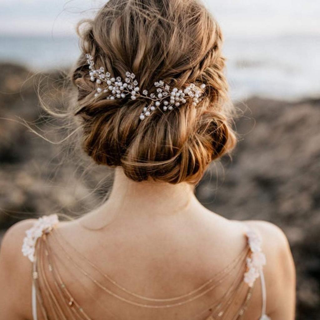Braut Haarschmuck, Tiara, Headpiece im Boho Style – Luna