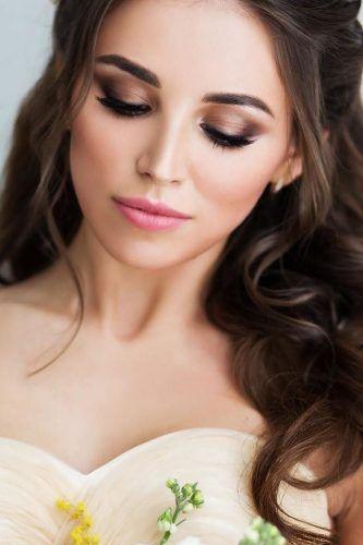 Bride Makeup Ideas; wedding makeup for brown eyes; blue eyes; wedding makeup for…