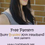 Bulky Braided Knit Headband :  Free knitting pattern: Bulky Braided Knit Headban...