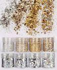 COKOHAPPY 8 Boxen Gold Silber Körper klobige Glitter Make-up holographische Flocke Nagel ...