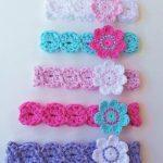 CROCHET HEADBAND Pattern, BABYS headband pattern, Girls headband pattern, 8 sizes, Download pattern, Baby girl headband, flower headband