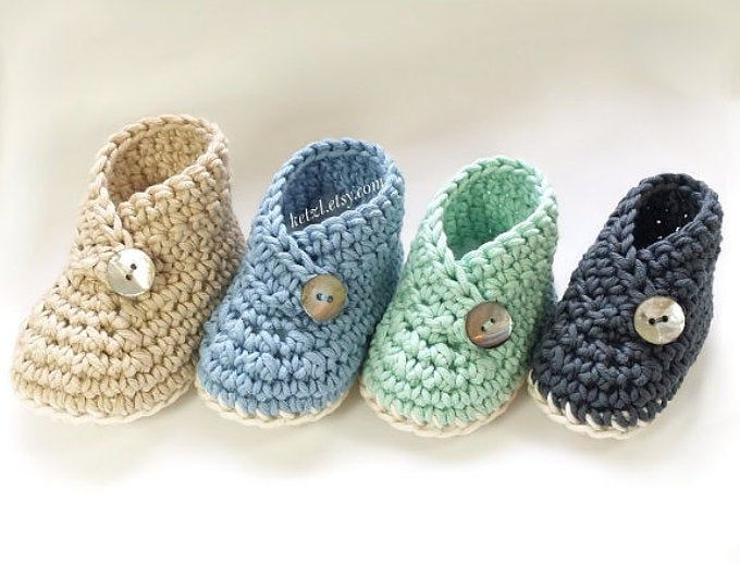 """CROCHET PATTERN Cute baby Sneaker Crochet booties """"Federation"""" Runners"""" cool modern funky, Blue running shoes boys, English language only"""
