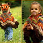 CROCHET PATTERN Fiesta Owl Poncho with Hood PDF Crochet Pattern with Instant Download