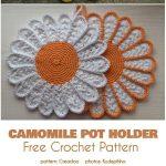 Camomile Pot Holder Free Crochet Pattern