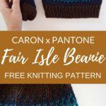 Caron x Pantone Fair Isle Beanie – Free Pattern