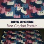 Cats Afghan Free Crochet Pattern