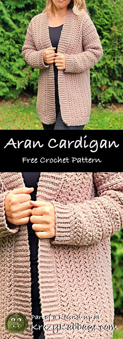 Chic Aran Cardigan – Free Crochet Pattern with Tutorial
