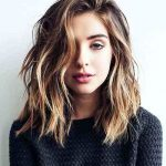 Chic haircut for round face hairstyles medium to