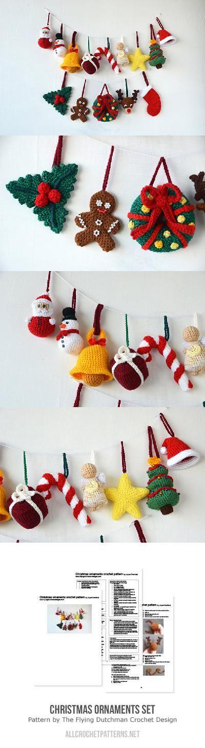 Christmas Ornaments Set Crochet Pattern