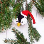 Christmas ornament crochet penguin