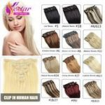 Clip in Hair Extensions Remy Virgin Brazilian Hair ...- Clip in Haarverlängerun...