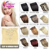 Clip in Hair Extensions Remy Virgin Brazilian Hair …- Clip in Haarverlängerun…