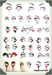 Clown Schminke Frau-Harley-Quinn-Augen-Make-up-Ideen – Sei dein eigenes Whyld-Gi…