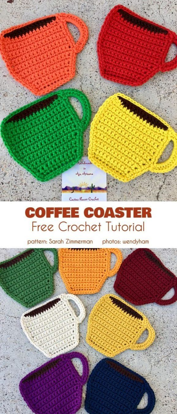 Coffee Coaster Free Crochet Pattern These coffee-themed coasters are a great match for your after-br