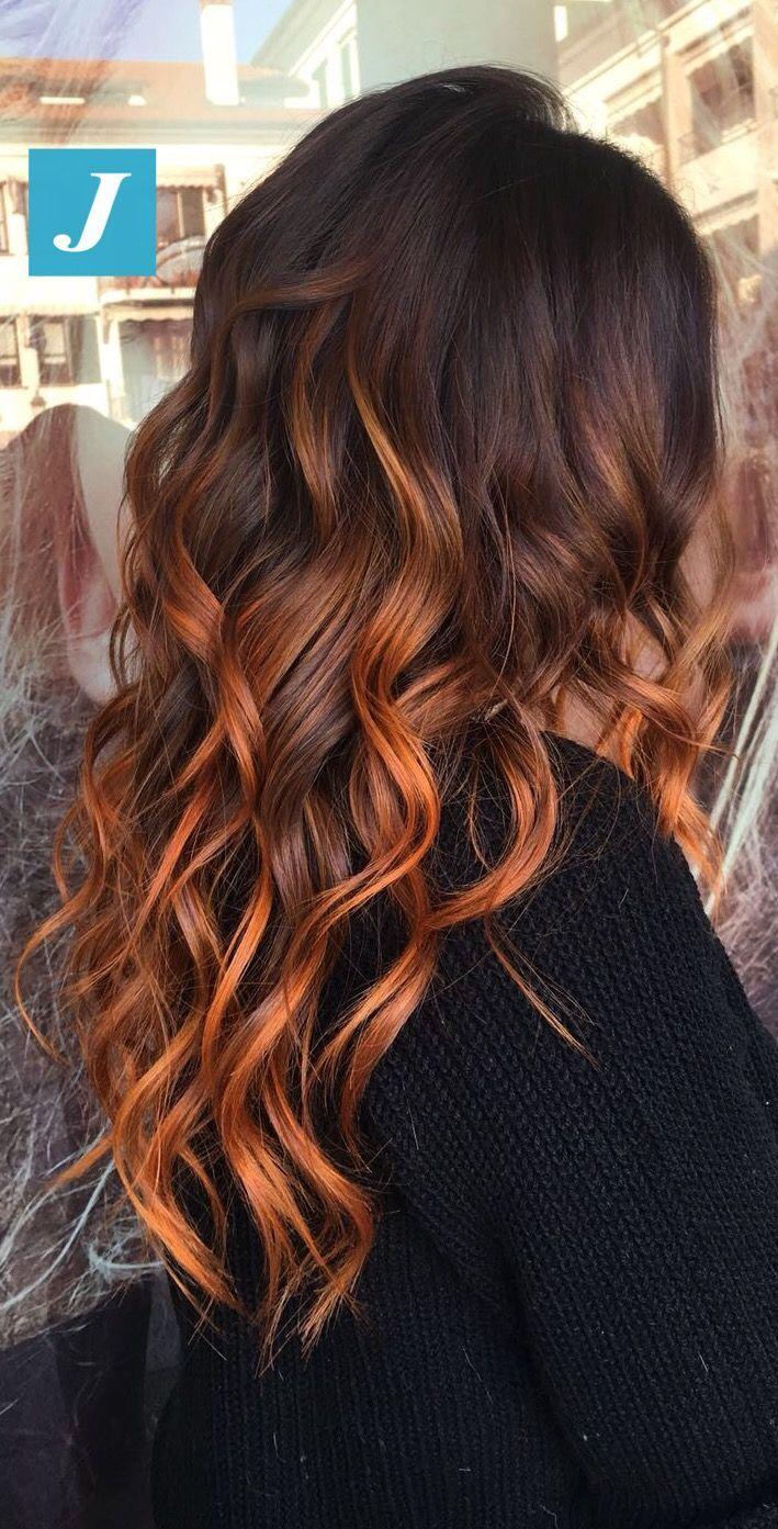 Copper Vibes _ Degradé Joelle #cdj #degradejoelle #tagliopuntearia #degradé #… #haircolor #hairstyle #haarfarbe #frisuren