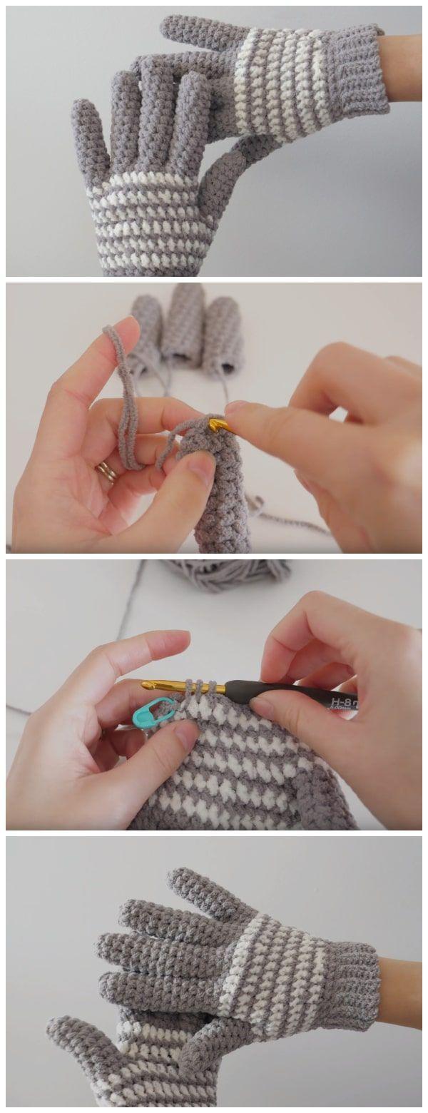 Cozy Crochet Gloves – Learn to Crochet – Crochet and Knitting Patterns