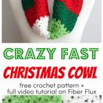 Crazy Fast Christmas Cowl