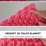 Crochet 3D Tulips Blanket