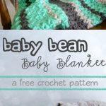 Crochet Baby Bean Baby Blanket - Free Pattern
