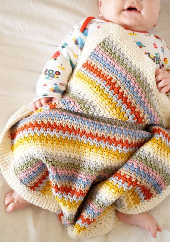 Crochet Baby Blanket Patterns   Free Knitting Patterns   Handy Little Me