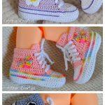 Crochet Baby Converse Booties Free Crochet Pattern + Video