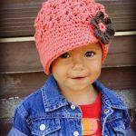 Crochet Baby Hat, toddler girls hat, kids hat, crochet newsboy hat, hat for girls