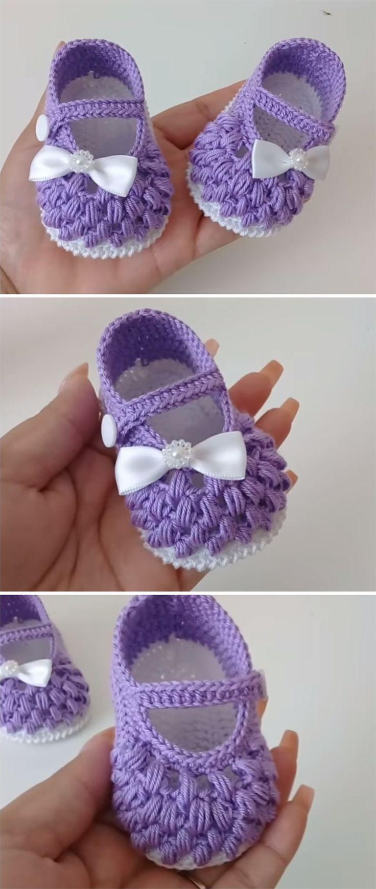 Crochet Baby Open Shoes