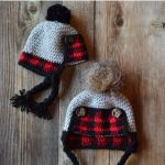 Crochet Baby Plaid Trapper Hat - Free Crochet Pattern - Whistle and Ivy