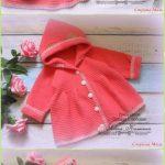 Crochet Baby Ruffled Cardigan Coat Free Pattern