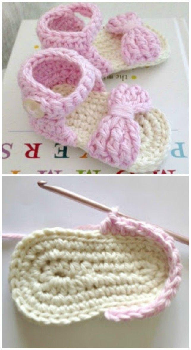 Crochet Baby Sandals Patterns Best Cutest Tutorials,  #baby #babyclothescutest #crochet #cute…