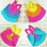 Crochet Baby Swing Top Halter Top Tank Top Backless Shirt Newborn Toddler Handmade Clothes,  ...