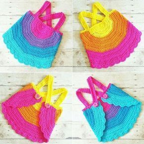 Crochet Baby Swing Top Halter Top Tank Top Backless Shirt Newborn Toddler Handmade Clothes,  …