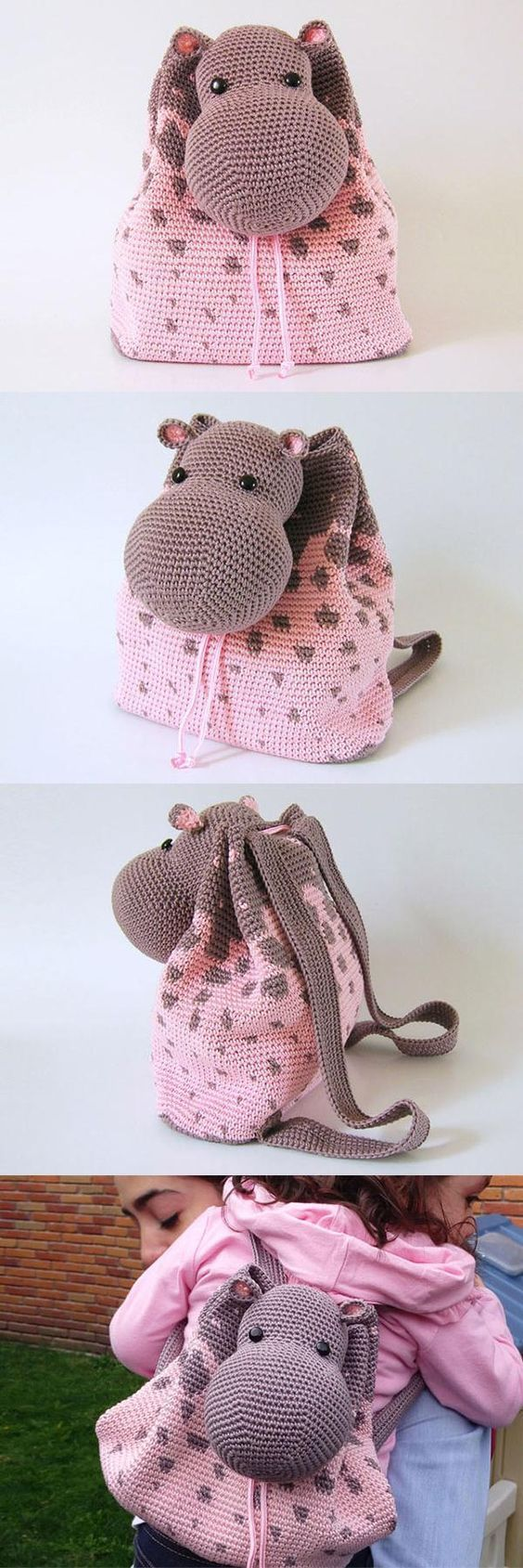 Crochet Backpack Bag Pattern Lots Of Free Tutorials   The WHOot