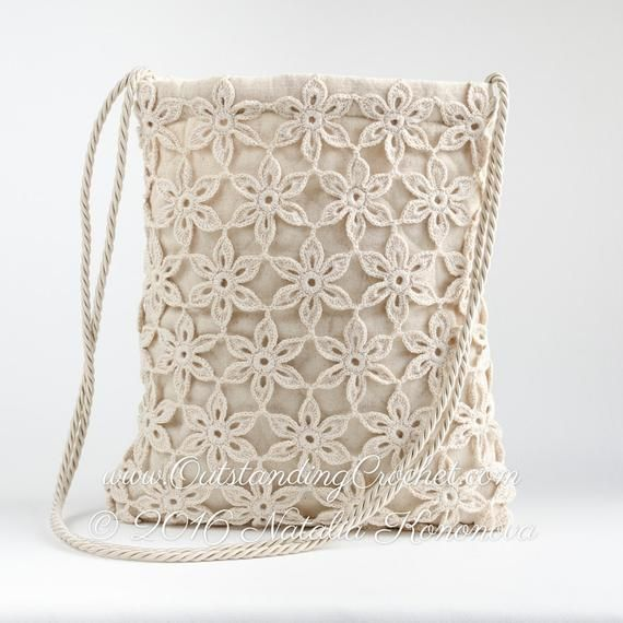 Crochet Bag PATTERN – July Field, Shoulder Bag Pattern, Messenger Tote Purse, Cross-body Bag Pattern, Boho Bag, Graph, Free option – PDF