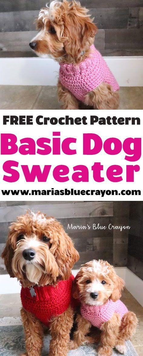 Crochet Basic Dog Sweater – Free Step by Step Tutorial