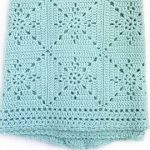 Crochet Blanket Pattern - Arielle's Square  - Easy Granny Square Pattern - Throw Afghan - by Deborah O'Leary Patterns
