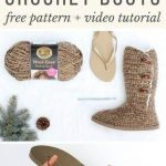 Crochet Boots With Flip Flop Soles - Free Pattern + Video