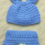 Crochet Bunny Hat and Diaper Cover Set, Newborn Baby Bunny Hat, Easter Baby Gift, Blue Diaper Cover,