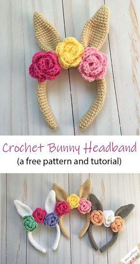 Crochet Bunny Headband – A Free Pattern