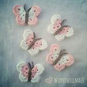 Crochet Butterflies * Kostenloses Häkel-Tutorial *,  #Butterflies #crochet #HäkelTutorial #Ko…