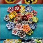 Crochet Button Flowers Video Free Pattern Lots Of Ideas - Crochet and Knitting Patterns