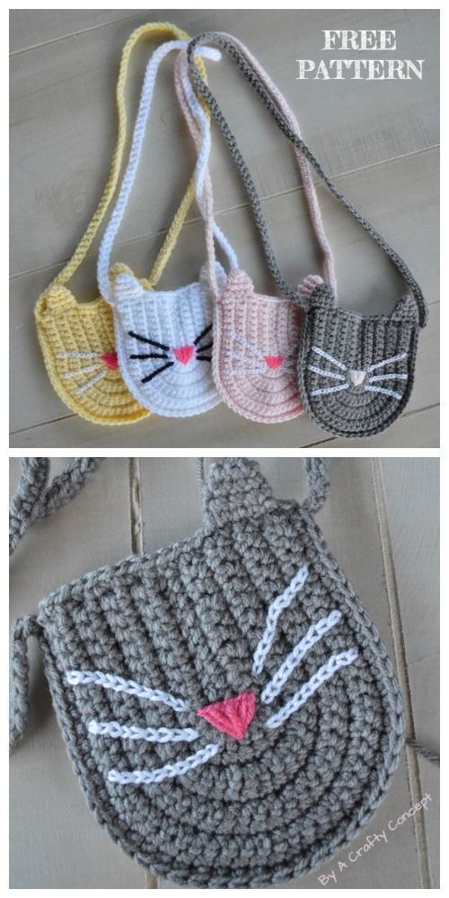 Crochet Cat Purse Free Crochet Patterns