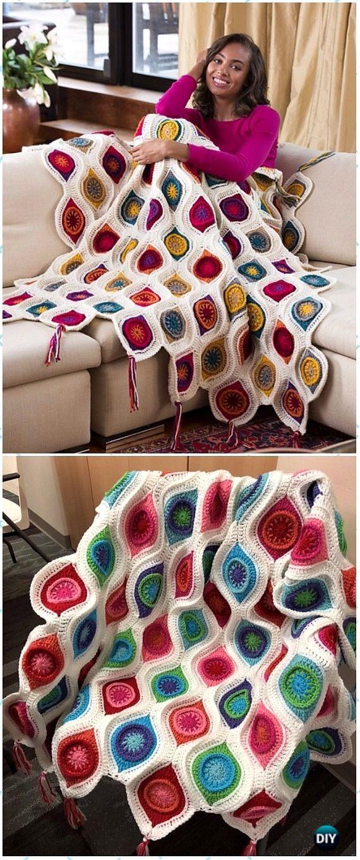 Crochet Christmas Blanket Free Patterns & Tutorials