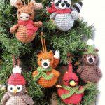Crochet Christmas Ornament Pattern, Woodland Animal Crochet Pattern, Crochet Christmas Pattern, Amigurumi Christmas Pattern, Animal Ornament